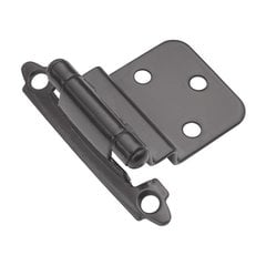 "3/8"" Inset Surface Mt. Hinge Pair Black Self Close"