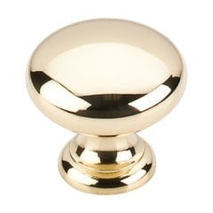 Somerset 1-1/4 Inch Diameter Polished Brass Cabinet Knob