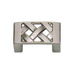 Lattice 1-1/4 Inch Center to Center Brushed Nickel Cabinet Pull