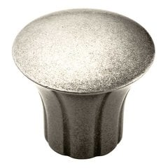 Vasari 1-5/16 Inch Diameter Antique Nickel Cabinet Knob <small>(#BP24021AN)</small>