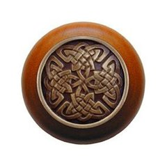Jewel 1-1/2 Inch Diameter Antique Brass Cabinet Knob <small>(#NHW-757C-AB)</small>