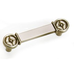 Paris 3 Inch Center to Center Satin Nickel Cabinet Pull <small>(#39728)</small>