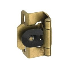 Single Demountable 1/2 inch Overlay Hinge Burnished Brass-Pair <small>(#CMR8719BB)</small>