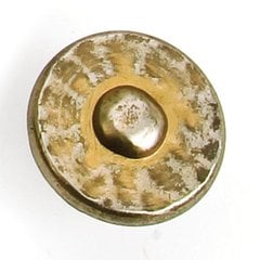 Nevada 1-3/8 Inch Diameter Antique Pewter With Bronze Cabinet Knob