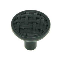 Sheffield 1-1/4 Inch Diameter Matte Black Cabinet Knob <small>(#CP28-MB)</small>