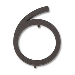 Modern Avalon House Number Six Aged Bronze <small>(#AVN6-O)</small>