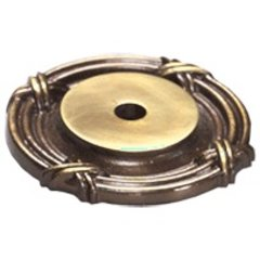 Versailles Forged Solid Brass 1-1/2 Inch Diameter Antique Light Polish Back-plate
