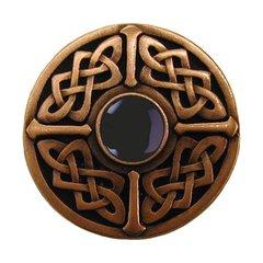 Jewel 1-3/8 Inch Diameter Antique Copper Cabinet Knob <small>(#NHK-158-AC-O)</small>