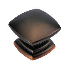Euro-Contemporary 1-1/2 Inch Diameter Refined Bronze Cabinet Knob <small>(#P2163-RB)</small>
