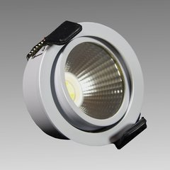 Hera Lighting SR45-LED White Swivel Recess Mount Spoltight Warm White SR45/WH/3000
