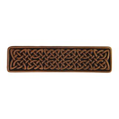 Jewel 3 Inch Center to Center Antique Copper Cabinet Pull <small>(#NHP-657-AC)</small>