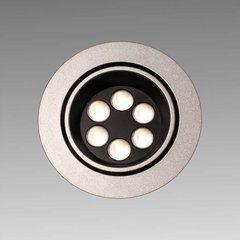 Big6/2-LED Stainless Swivel Spotlight - Warm White
