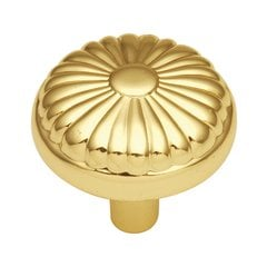 Eclipse 1-1/4 Inch Diameter Ultra Brass Cabinet Knob