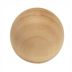 Natural Woodcraft Knob 1-1/4 inch Diameter Unfinished Wood