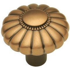 Beaded Classic Knob 1-1/4 inch Diameter Wellington Bronze