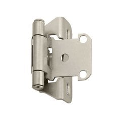 "Partial Wrap 1/4"" Overlay Satin Nickel Sold Per Pair <small>(#BP7566G10)</small>"