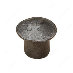 Forged Iron 1-1/4 Inch Diameter Antique Iron Cabinet Knob <small>(#806031903)</small>