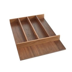 "Trimmable Utility Tray 15-1/8"" W Walnut"