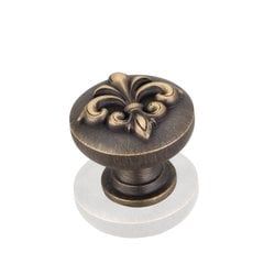 Lafayette 1-3/8 Inch Diameter Antique Brushed Satin Brass Cabinet Knob