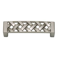 Lattice 3 Inch Center to Center Brushed Nickel Cabinet Pull