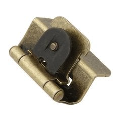 "Double Demountable 1/2"" Overlay Hinge Pair Antique Brass <small>(#P5310-AB)</small>"