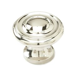 Colonial 1-1/4 Inch Diameter Polished Nickel Cabinet Knob