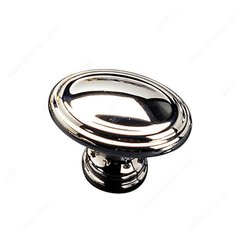 Contemporary Classics 1-3/16 Inch Diameter Chrome Cabinet Knob