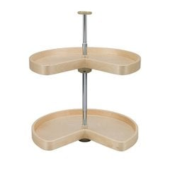 "Kidney Shape Two Shelf Set 24"" Diameter - Wood <small>(#LD-4BW-472-24-1)</small>"