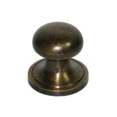 Knobs 7/8 Inch Diameter Unlacquered Antique Brass Cabinet Knob