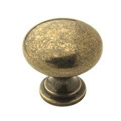 Allison Value Hardware 1-1/4 Inch Diameter Burnished Brass Cabinet Knob <small>(#BP53023BB)</small>