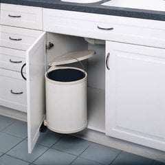 Single Trash Pullout 15 Litre-White