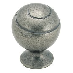 Swirl'Z 1-1/8 Inch Diameter Weathered Nickel Cabinet Knob <small>(#BP9338WN)</small>