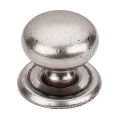 Britannia 1-1/4 Inch Diameter Pewter Antique Cabinet Knob <small>(#M25)</small>