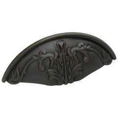 Corinthian 3 Inch Center to Center Michelangelo Bronze Cabinet Cup Pull <small>(#872-MIBZ)</small>