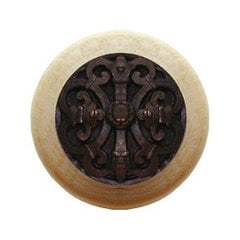 Olde World 1-1/2 Inch Diameter Dark Brass Cabinet Knob <small>(#NHW-776N-DB)</small>