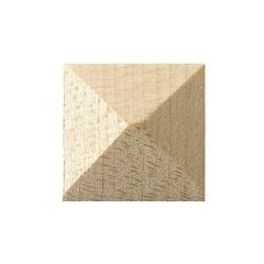 Brown Wood Large Pyramid Tile Unfinished Hard Maple 01902278HM1