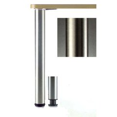 "Heidelberg Table Leg Set Brushed Steel 27-3/4""H"