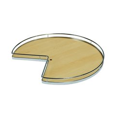 "Super Susan Pie Cut Lazy Susan Set 32"" Maple/Champagne"