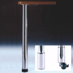 "Zoom Table Leg Set Brushed Steel 27-3/4"" H"