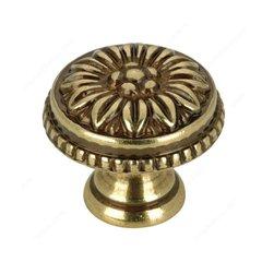 Louis XV 1 Inch Diameter Antique English Cabinet Knob <small>(#BP04325AE)</small>