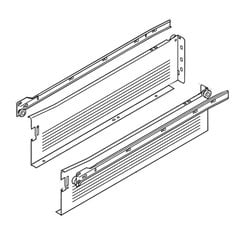 "Metabox Slide 4-5/8H inch x 20""L - White with Front Fix Brackets"