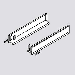 Legrabox M 24 inch Drawer Profile Left/Right Stainless Steel <small>(#770M6002I)</small>