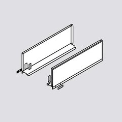 "Legrabox C 18"" Drawer Profile Left/Right Stainless Steel <small>(#770C4502I)</small>"