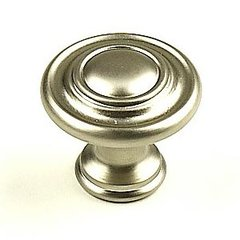 Baroque 1-3/8 Inch Diameter Dull Satin Nickel Cabinet Knob