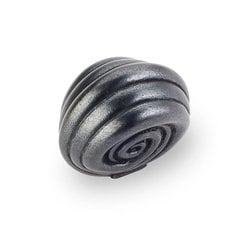 Lille 1-3/8 Inch Diameter Dark Antique Copper Machined Cabinet Knob