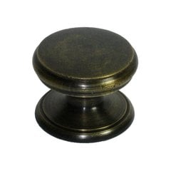 Knobs 1-1/8 Inch Diameter Unlacquered Antique Brass Cabinet Knob