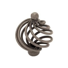 Forged Iron 1-9/16 Inch Diameter Pewter Cabinet Knob <small>(#PN9012-AP-C)</small>