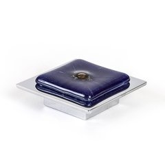 Radiants 5/8 Inch Center to Center Dark Blue Polished Chrome Cabinet Pull <small>(#9676-1000-C)</small>