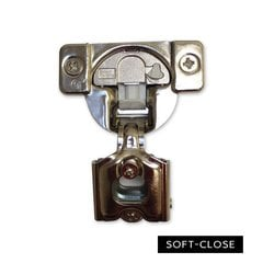 Tec Soft-Close 5/8 inch Side Mount 45MM Dowel Hinge