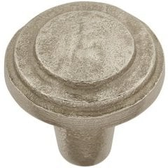 Riverside Knob 1-1/4 inch Diameter Natural White Bronze